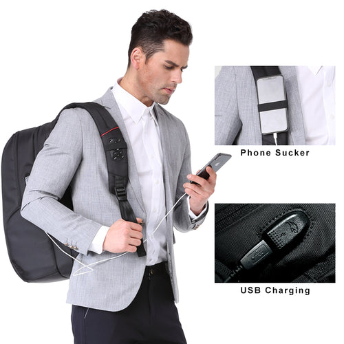 Anti-theft organizer backpack