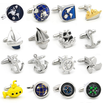 Save the Ocean Cufflinks |  Marine Cuff Links Jewelry For Men