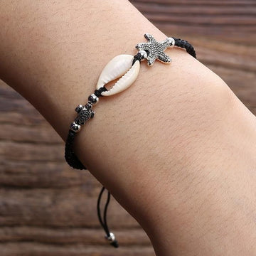 Ocean Jewelry | Natural Shell Turtle Bracelet Anklet