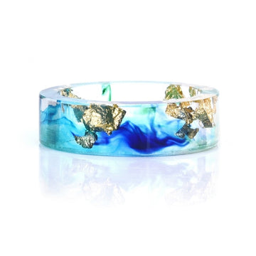Save the Ocean Jewelry | Handmade Flower Sky Sea Ring