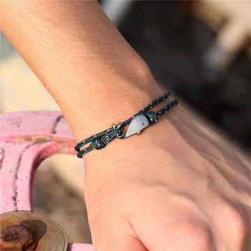 Save Sea Life Jewelry | Whale Bracelet Anchor Wrap