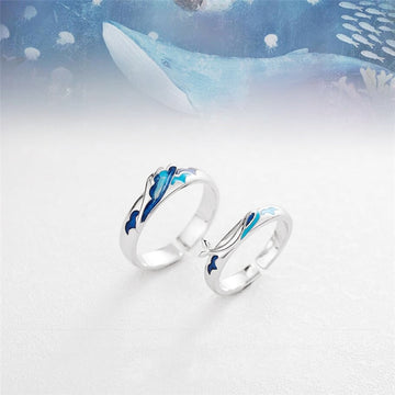 Couples Jewelry | Sterling Silver Whale Charity Ring