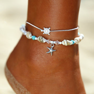 Ocean Beach Jewelry | Boho Cowrie Shell Anklets