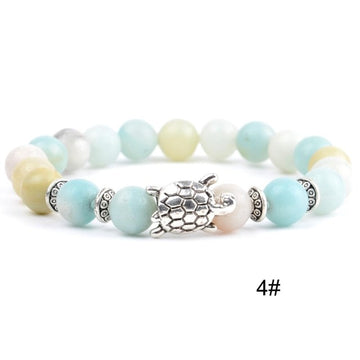 Ocean Charity Jewelry | Natural Stone White Turquoise Bracelet