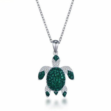 Save Sea Life Jewelry | Celtic Green Sea Turtle Necklace