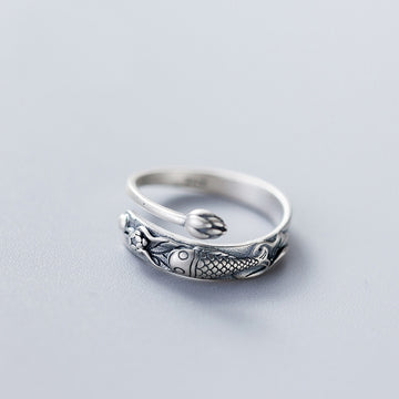 Ocean Retro Vintage Jewelry | Sterling Silver Fish Ring