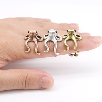 Save the Ocean Jewelry | Stainless Steel Octopus Ring