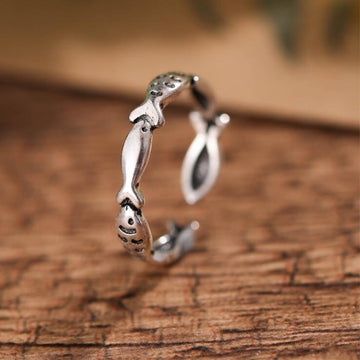 Save the Seas Jewelry | Sterling Silver Fish Ring