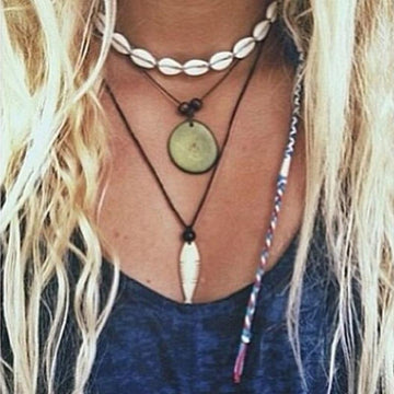 Conch Choker Necklace | Black Rope Sea Shell Bracelets