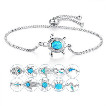 Save the Ocean Jewelry | Blue Crystal Opal Bracelet