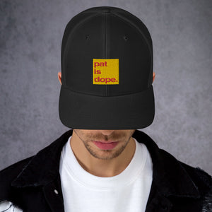 pat is dope. Mid-Profile Trucker Cap