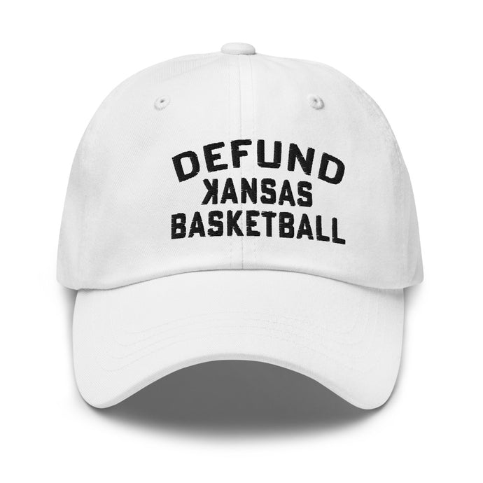 DEFUND kansas Basketball (BLACK Text) - Dad hat