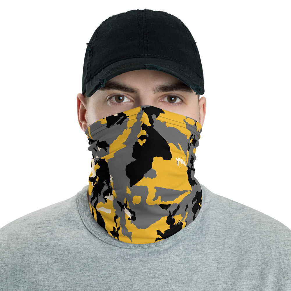 Camo (black and gold)- Neck gaiter