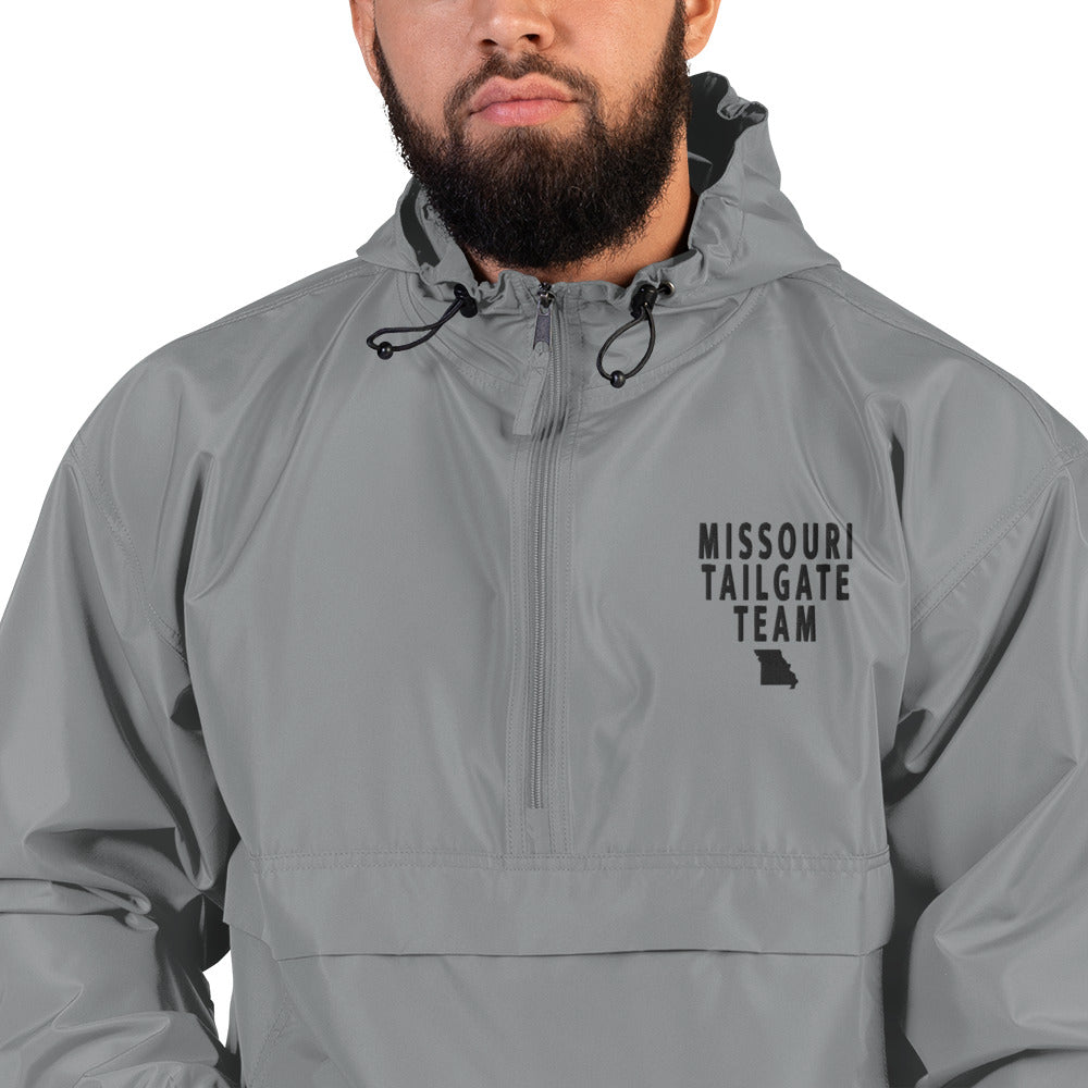 MISSOURI TAILGATE TEAM (BLACK STITCH) Embroidered Champion Packable Jacket