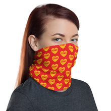 Load image into Gallery viewer, Como Heart (red) - Neck Gaiter