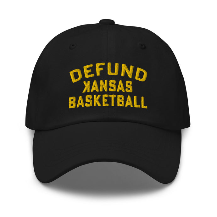 DEFUND kansas Basketball (GOLD Text) - Dad hat