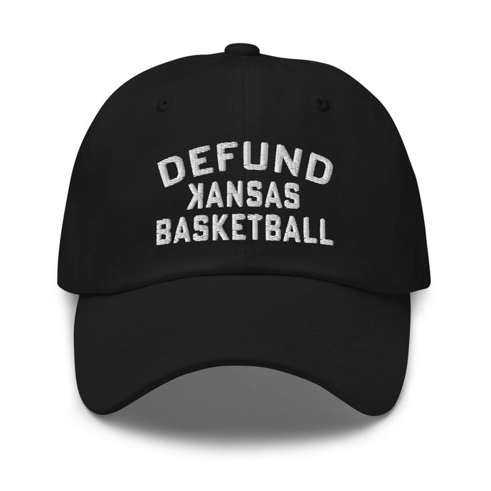 DEFUND kansas Basketball (WHITE TEXT) - Dad hat