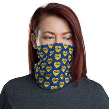 Load image into Gallery viewer, Como Heart (blue) - Neck Gaiter