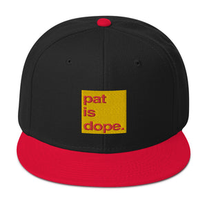 pat is dope. High Profile Snapback Hat