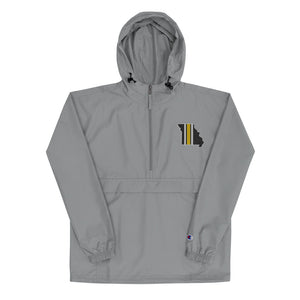 Missouri Stripe - Embroidered Champion Packable Jacket