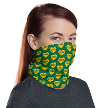 Load image into Gallery viewer, Como Heart (green) - Neck Gaiter