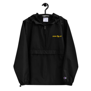 Drink Up (Gold Stitch) Embroidered Champion Packable Jacket