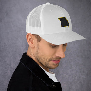 Missouri (black and gold embroidery) Trucker Cap