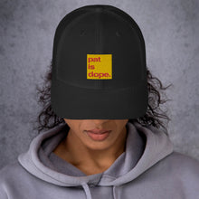 Load image into Gallery viewer, pat is dope. Mid-Profile Trucker Cap