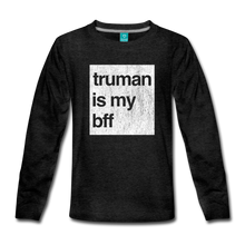 Load image into Gallery viewer, truman is my bff - Kids' Premium Long Sleeve T-Shirt - charcoal gray