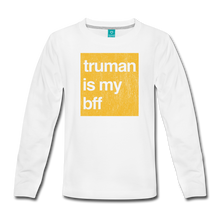 Load image into Gallery viewer, truman is my bff - gold - Kids' Premium Long Sleeve T-Shirt - white
