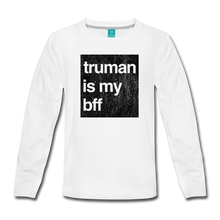 Load image into Gallery viewer, truman is my bff-black print-Kids' Premium Long Sleeve T-Shirt - white
