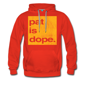 Pat is Dope - Men's Premium Hoodie - red