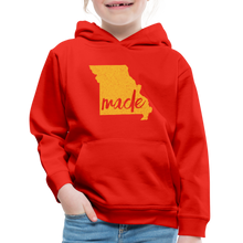Load image into Gallery viewer, Made (Missouri Gold print) Kids' Premium Hoodie - red