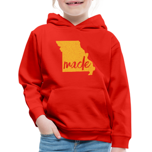 Made (Missouri Gold print) Kids' Premium Hoodie - red