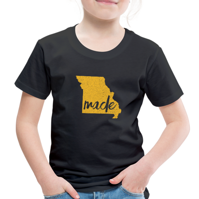 Made (Missouri Gold print) Toddler Premium T-Shirt - black