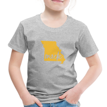 Load image into Gallery viewer, Made (Missouri Gold print) Toddler Premium T-Shirt - heather gray