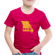 Load image into Gallery viewer, Made (Missouri Gold print) Toddler Premium T-Shirt - dark pink