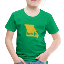 Load image into Gallery viewer, Made (Missouri Gold print) Toddler Premium T-Shirt - kelly green
