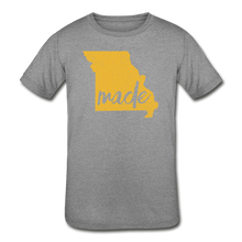 Load image into Gallery viewer, Made (Missouri Gold print) Kids' Tri-Blend T-Shirt - heather gray