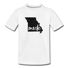 Load image into Gallery viewer, Made (Missouri black print) Kids' Premium T-Shirt - white