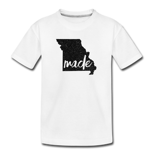 Made (Missouri black print) Kids' Premium T-Shirt - white