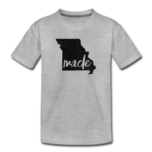 Load image into Gallery viewer, Made (Missouri black print) Kids' Premium T-Shirt - heather gray