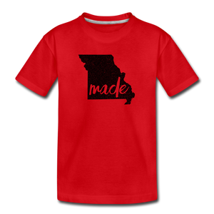 Made (Missouri black print) Kids' Premium T-Shirt - red