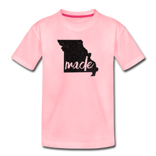 Load image into Gallery viewer, Made (Missouri black print) Kids' Premium T-Shirt - pink