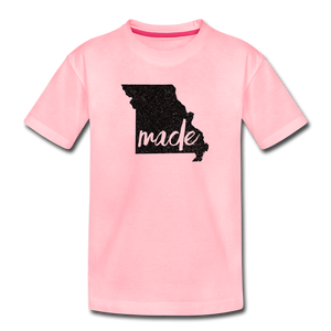 Made (Missouri black print) Kids' Premium T-Shirt - pink