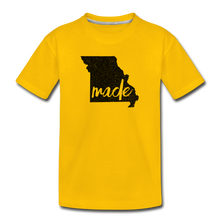 Load image into Gallery viewer, Made (Missouri black print) Kids' Premium T-Shirt - sun yellow