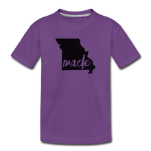 Load image into Gallery viewer, Made (Missouri black print) Kids' Premium T-Shirt - purple