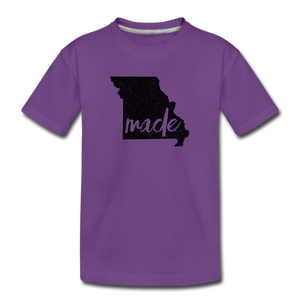 Made (Missouri black print) Kids' Premium T-Shirt - purple