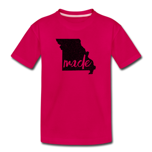 Made (Missouri black print) Kids' Premium T-Shirt - dark pink
