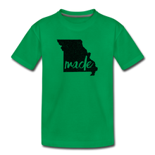 Load image into Gallery viewer, Made (Missouri black print) Kids' Premium T-Shirt - kelly green